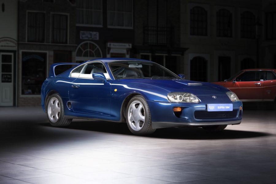 Blue 1994 Toyota Supra