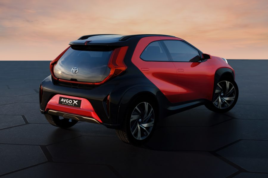 Toyota Aygo X prologue - rear view