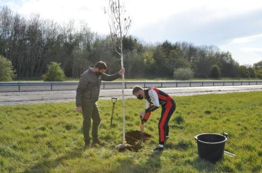 Rory Butcher tree planting