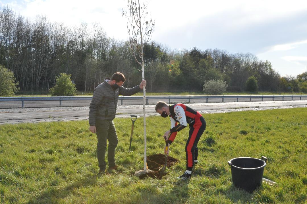 Rory Butcher tree planting
