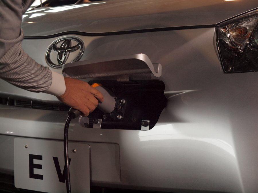 Toyota iQ EV charging point