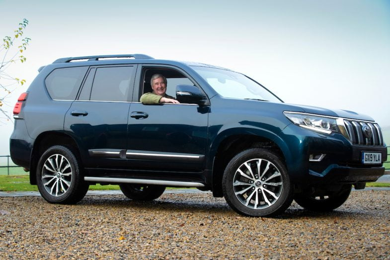 The' Yorkshire Vet', Peter Wright with his Toyota Land Cruiser