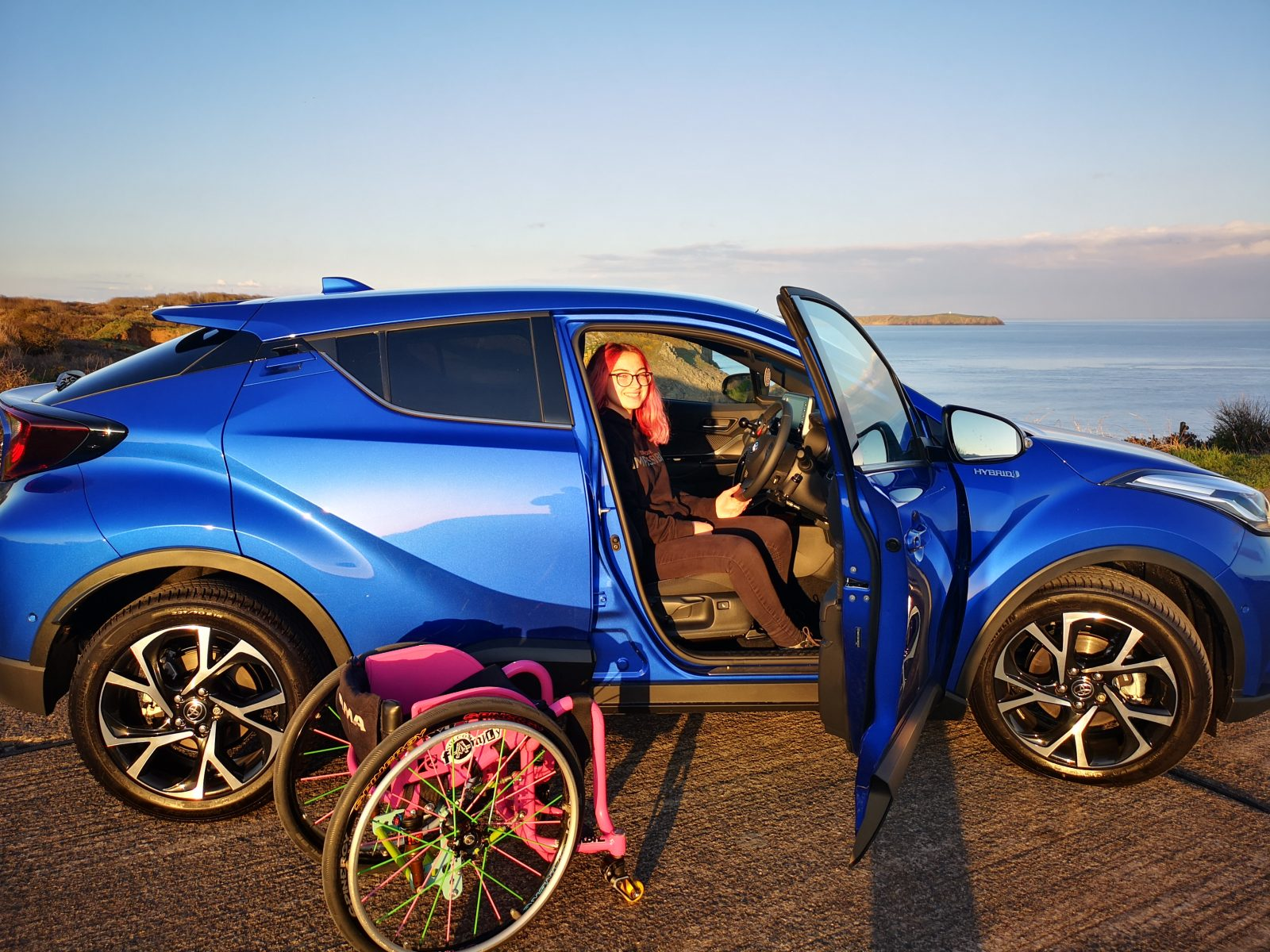 Lily Rice and her C-HR