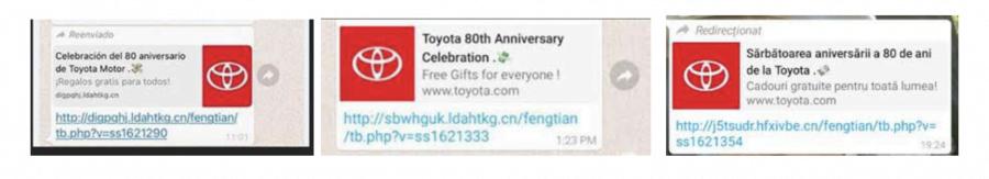 Toyota WhatsApp scam landscape