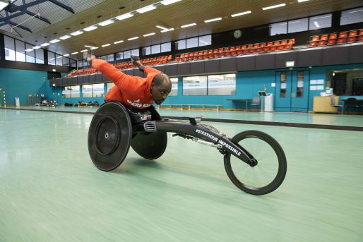 Racing technology for a racing wheelchair