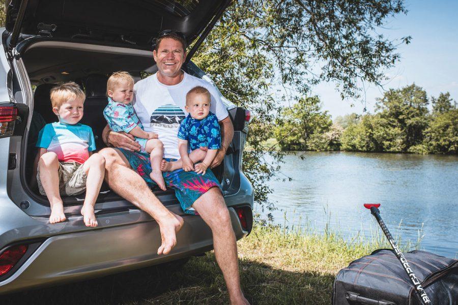 Steve Backshall and family